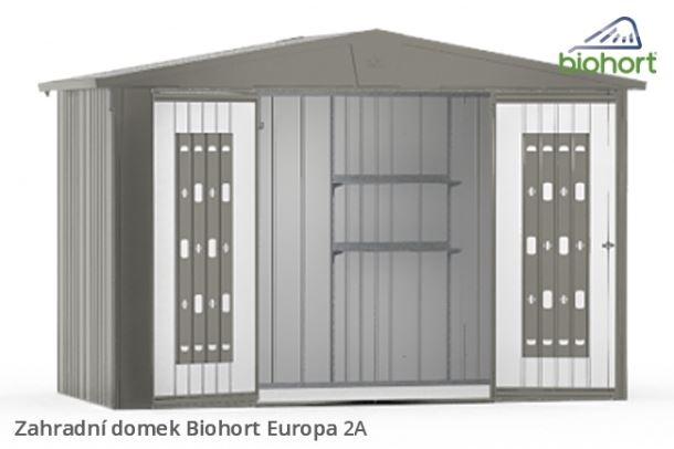 Biohort Zahradní domek EUROPA 2A, stříbrná metalíza