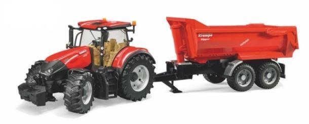 BRUDER - Traktor Case Ih Optum s vozem Krampe