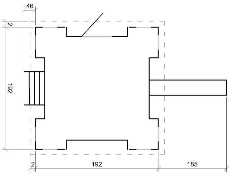Dětský dřevěný hrad M523
