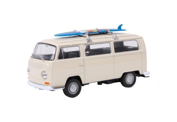 Model automobilu VW autobus T2+surfovací prkno