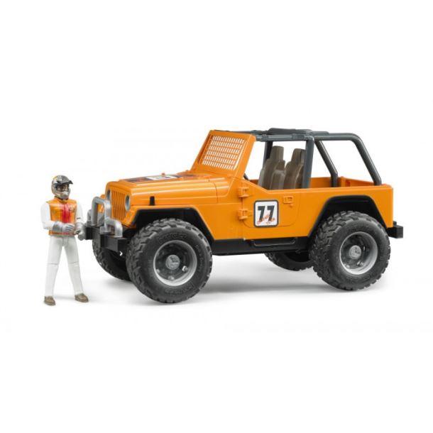 BRUDER-Závodní Jeep Cross Country oranžový s figurkou