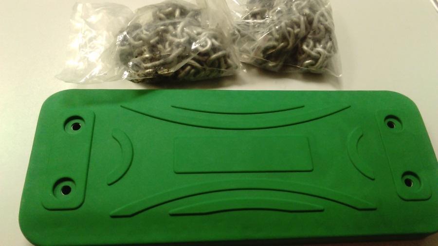 Houpačka aluminium zelená