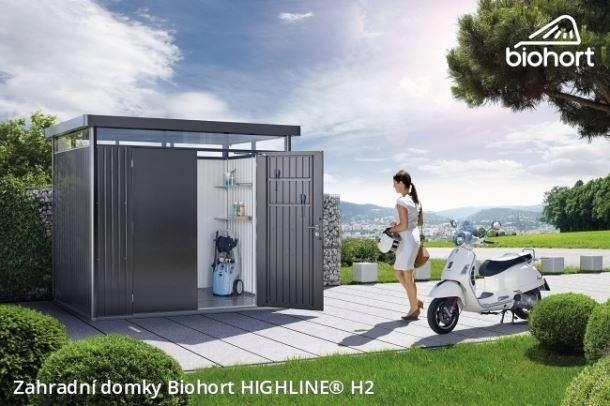 Biohort Zahradní domek HIGHLINE® H2, tmavě šedá metalíza