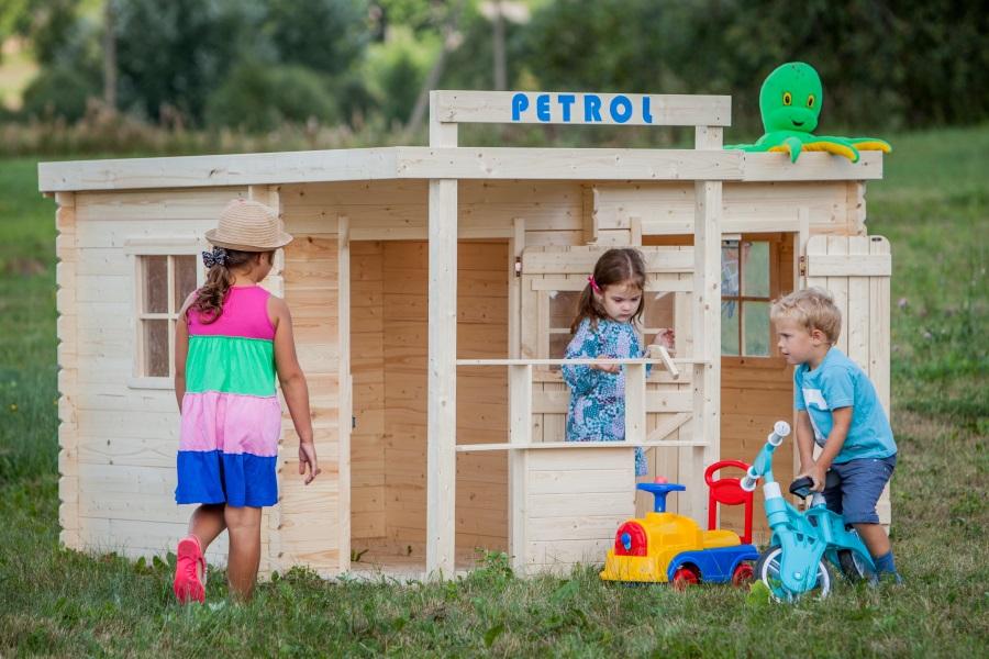Dětský dřevěný domek M518