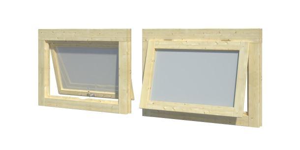 Okno pro zahradní domek o síle stěny 28 mm