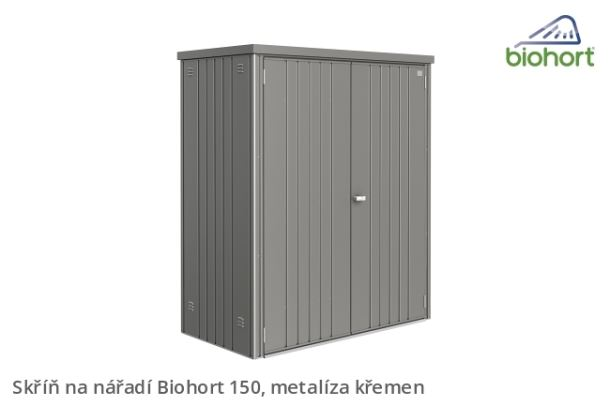 Biohort Skříň na nářadí 150, šedý křemen metalíza