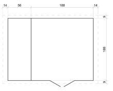 Domek na nářadí EKO-LINE H386