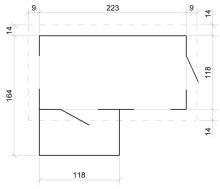 Dětský dřevěný domek M503