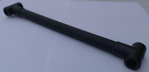 Příčka k lanovému žebříku - černá