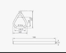 HRAZDA Monkey´s Home dřevěná s plastovou rukojetí ČERVENÁ