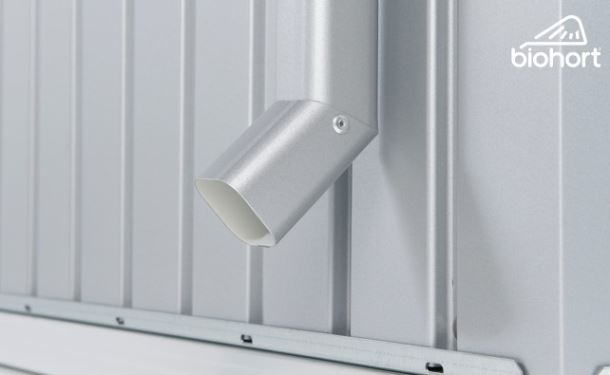 Biohort Sada okapových svodů pro PANORAMA, stříbrná metalíza, 2 kusy