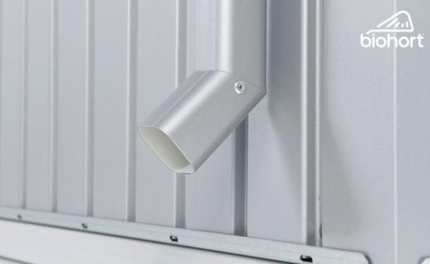Biohort Sada okapových svodů pro HIGHLINE®, stříbrná metalíza, 2 kusy