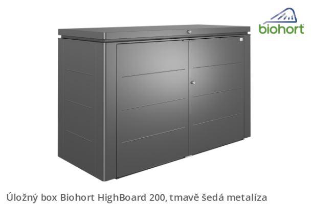 Biohort Úložný box HighBoard 200, tmavě šedá metalíza