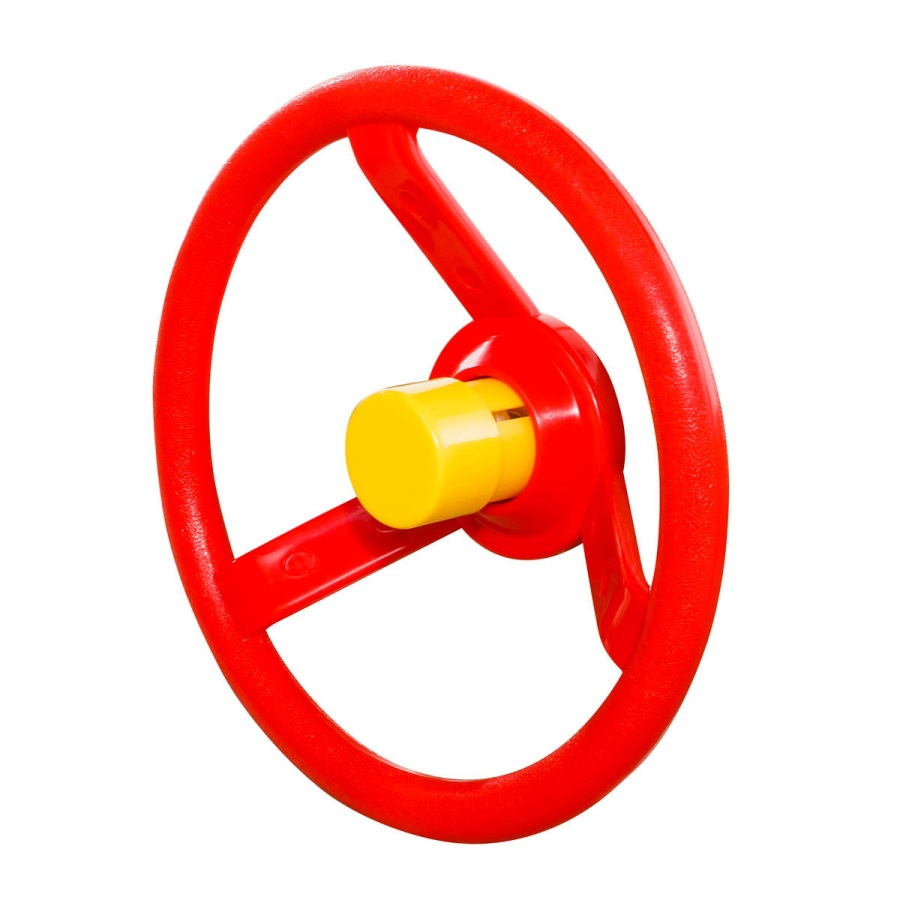Volant červený s žlutým klaksonem