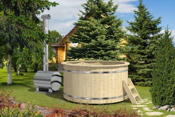 Hot Tub 180 thermowood  koupací sud s venkovními kamny