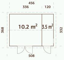 ZAHRADNÍ DOMEK Olaf 13,7 m2