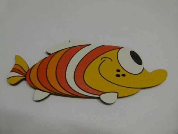 Dřevěná dekorace Ryba oranžová 190