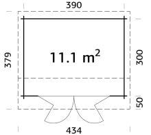 Zahradní domek INES 11,1 m2