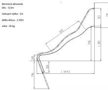 SKLUZAVKA Monkey´s nerez. pro výšku konstrukce 1 m