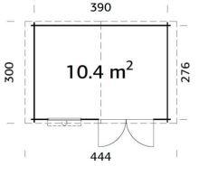 Zahradní domek EKO-LINE Luka A 10,4 m2