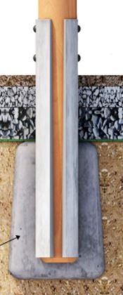 Kotvení pro akátové prvky - Sestava se skluzavkou SLON