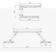 Stůl a sedačky PIKNIC