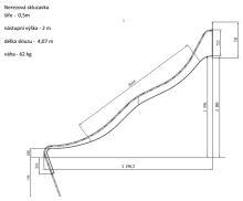 SKLUZAVKA Monkey´s nerez. pro výšku konstrukce 2 m