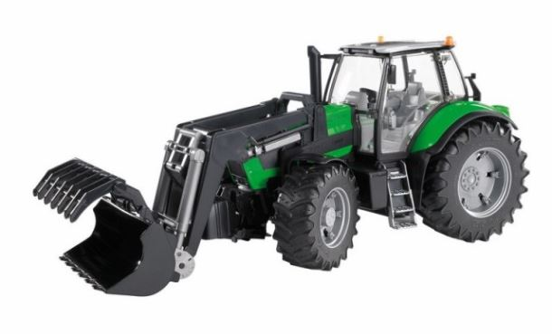 BRUDER - Traktor Deutz Agroton s čelním nakladačem