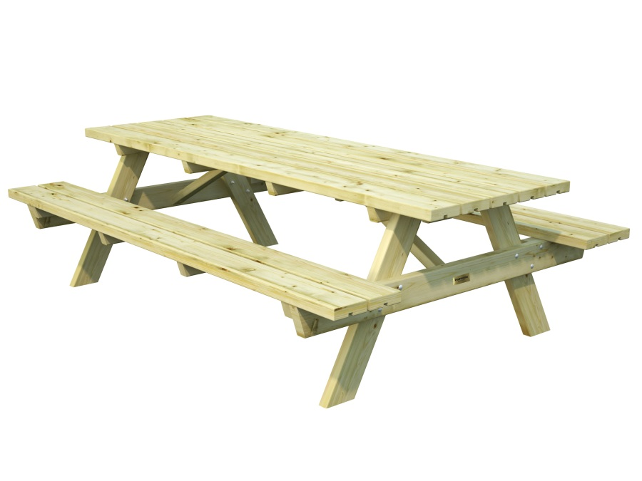 Zahradní dřevěný piknikový stůl PALMAKO RUBBY 24 - zelená impregnace