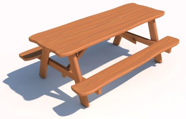 Piknikový stolek z akátu 200