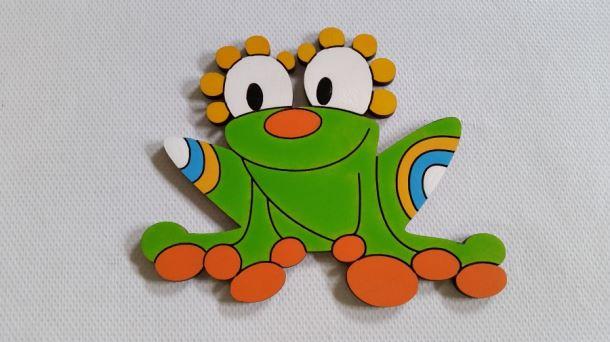 Dekorace dřevěná Žába 160