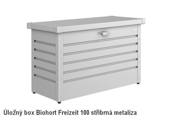 Biohort Úložný box FreizeitBox 100, stříbrná metalíza