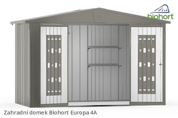 Biohort Zahradní domek EUROPA 4A, šedý křemen metalíza