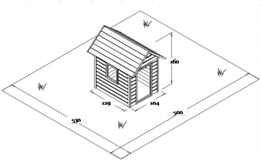 DĚTSKÝ DOMEČEK Monkey´s Home Davídek  (104cm x 129cm x 160cm)