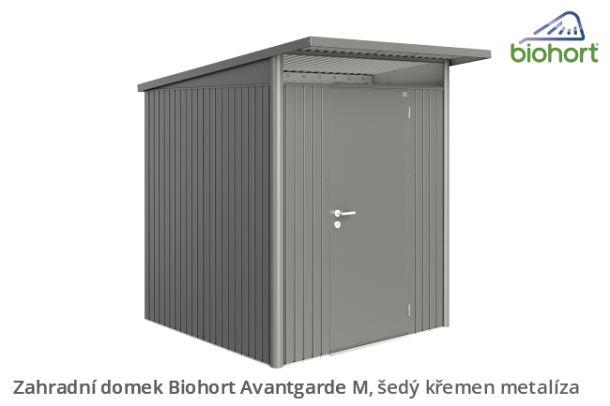 Biohort Zahradní domek AVANTGARDE A3, šedý křemen metalíza