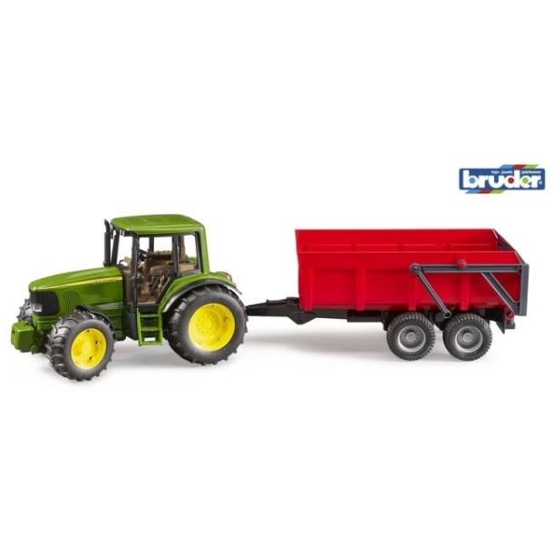 BRUDER - Traktor John Deere a sklápěcí valník