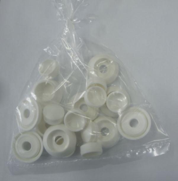 Krytka šroubu 10-12mm bílá - 43mm - balení 10 ks