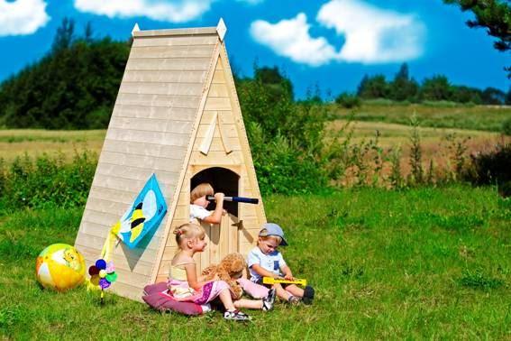 Dětský dřevěný domek M542