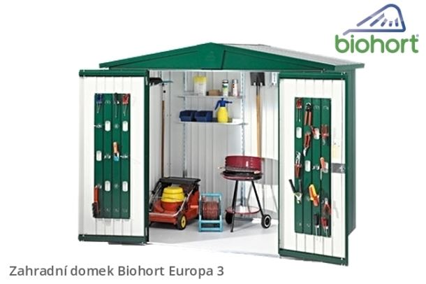 Biohort Zahradní domek EUROPA 3, stříbrná metalíza