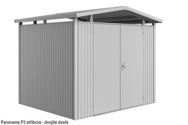 Biohort Zahradní domek PANORAMA P3, stříbrná metalíza