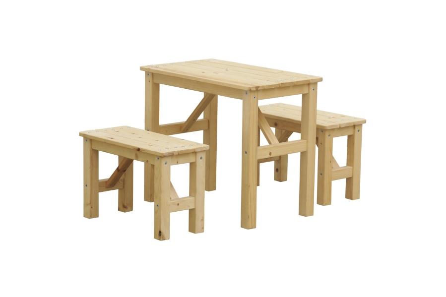 Dětský dřevěný piknikový set