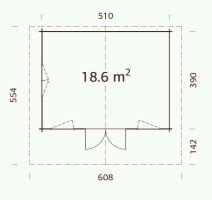 ZAHRADNÍ DOMEK Helena 18,6 m2