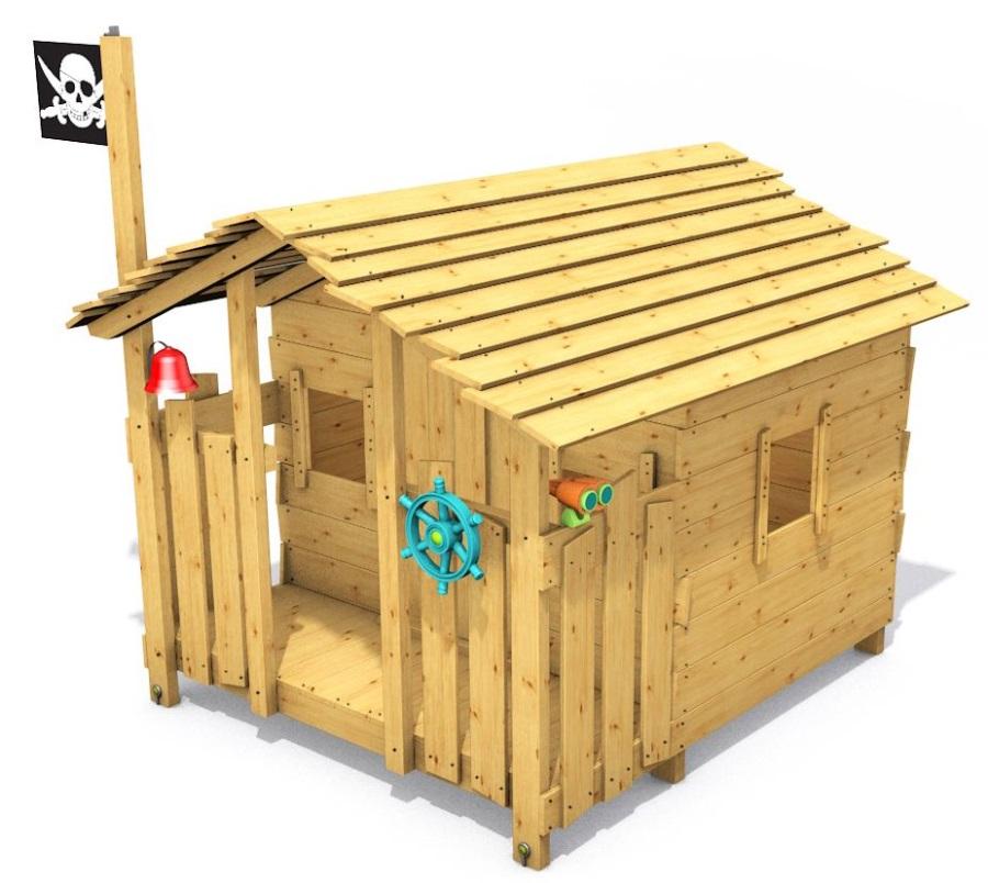 Dětský domeček Monkey´s Home Chatrč pirát Rat