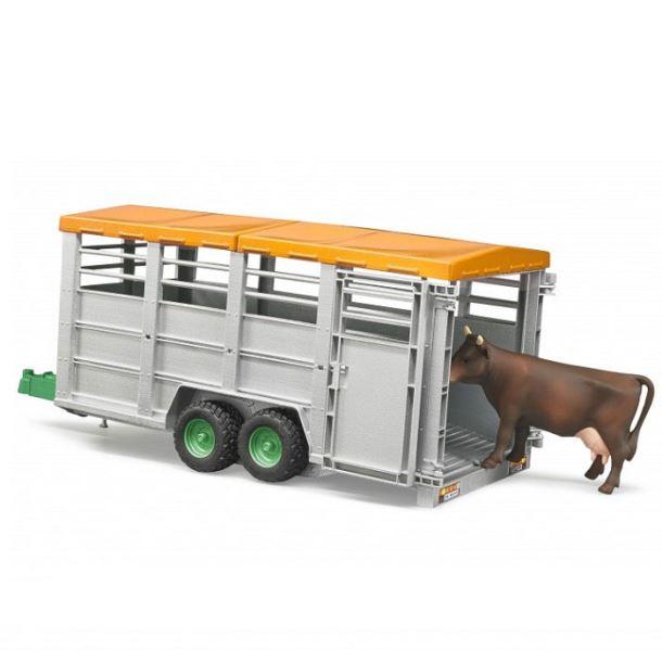 BRUDER - Velký přepravník na zvířata s figurkou kráva