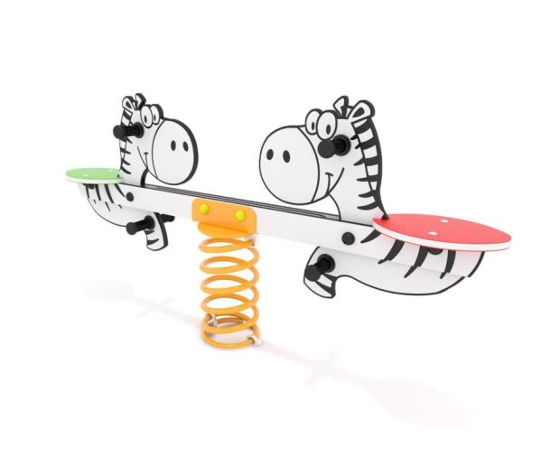 Pružinová dvouhoupačka Monkey's - Zebra