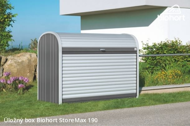 Biohort Úložný box StoreMax® 190, šedý křemen metalíza
