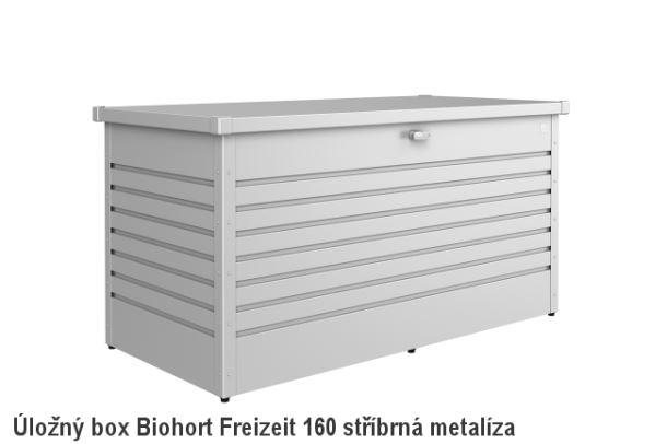 Biohort Úložný box FreizeitBox 160HIGH, stříbrná metalíza