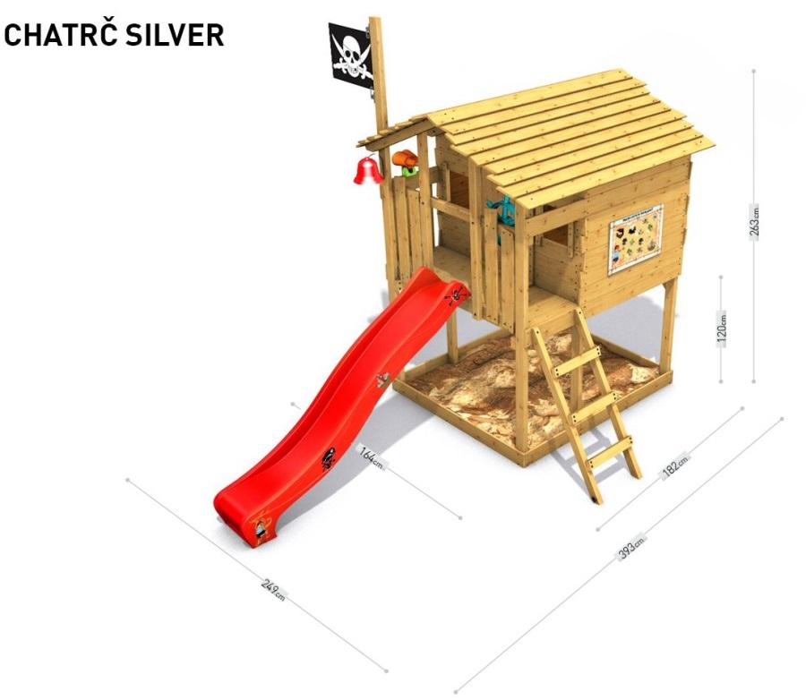 Dětský domeček Monkey´s Home Chatrč pirát Silver