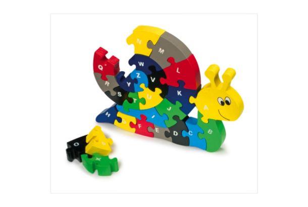 Puzzle dřevěné Šnek