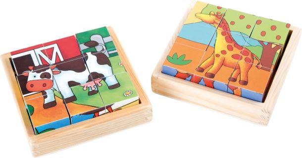 Dřevěné Puzzle Farma a ZOO